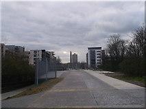 TQ3783 : Greenway at Hackney Wick by David Anstiss