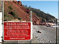 SX9265 : Beach closed, Oddicombe by Derek Harper
