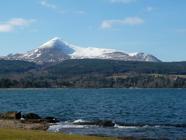 Goatfell from Brodick seafront
