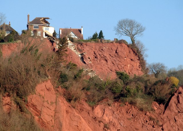 Collapsing house, Babbacombe