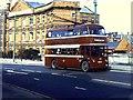 SU7173 : Trolleybus near Kennet Bridge by Richard Green