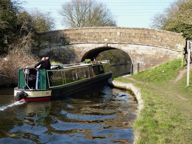 Cruising under Upper Hattons bridge
