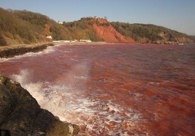 Red sea at Babbacombe
