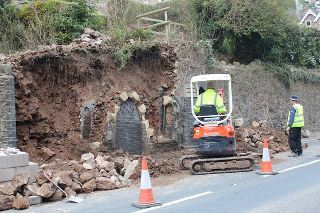 Repairing the Gothic Well, Wells Road, Malvern