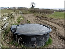 NZ0665 : Water trough west of Nafferton Farm by Andrew Curtis