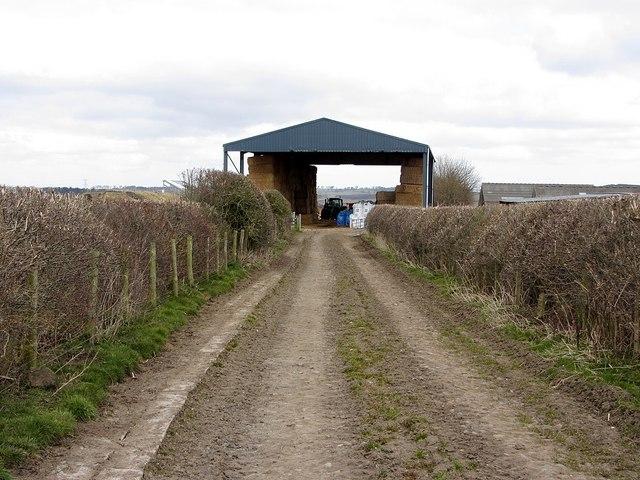 Barn & bridleway, Nafferton Farm