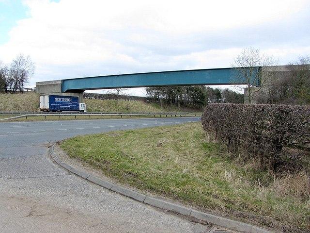 Footbridge over A69 at Nafferton Farm