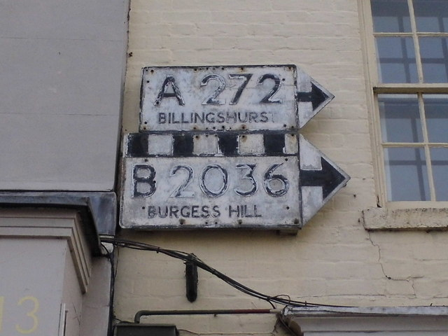 Pre-Worboys direction signs, Cuckfield High Street