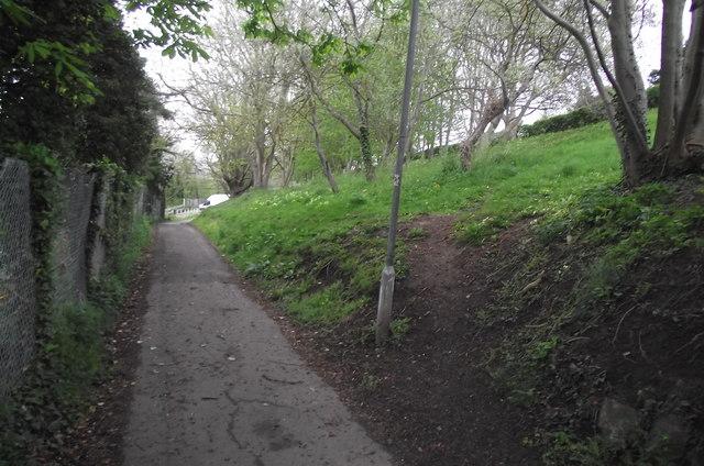 The bottom half of the top half of Church Fields Lane