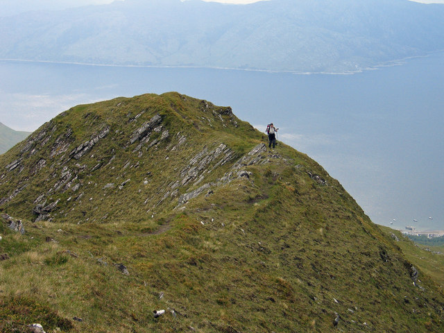 Upper south-west ridge of Sgùrr Coire Choinnichean