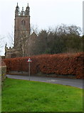 ST6390 : St Mary's church Thornbury viewed from Church Road by Jaggery