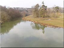 SE7365 : River Derwent at Kirkham Abbey by Peter Church