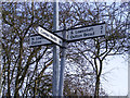 TM5194 : Roadsign on Wood Lane by Adrian Cable