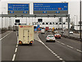 SP0195 : Southbound M6, Junction 8 for the M5 by David Dixon