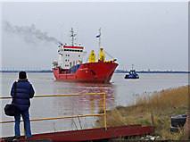 "TA0623 : ""Mekhanik Semakov"" approaching Barrow Haven by David Wright"