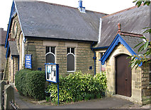 SK2666 : Rowsley - Methodist Church (from E) by Dave Bevis