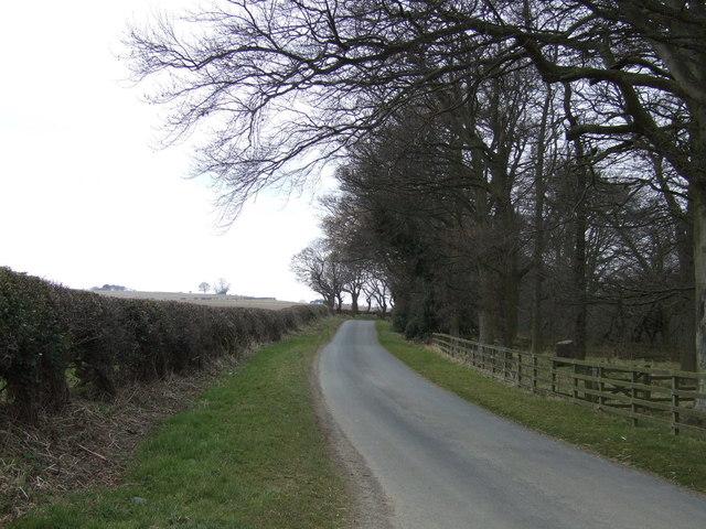 Minor road heading west, Sturton Grange