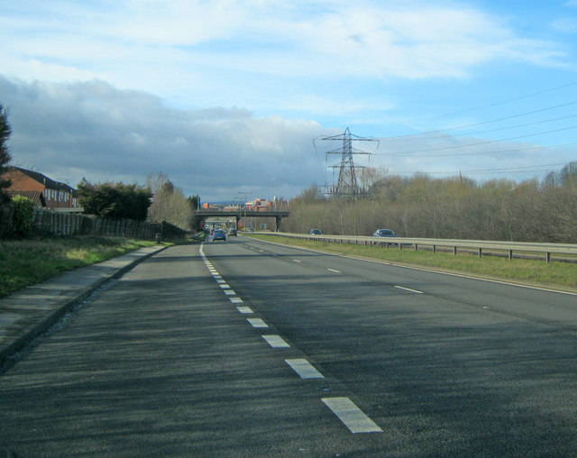 A617 approaching Chesterfield