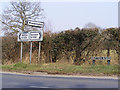 TG1107 : Roadsigns on the B1108 Watton Road by Adrian Cable