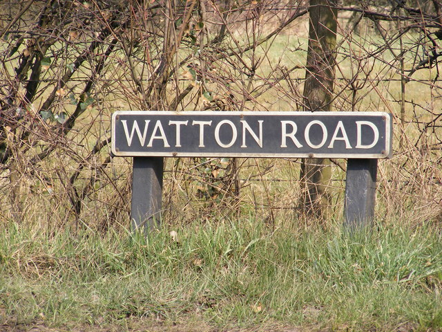 Watton Road sign