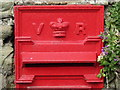 NZ0066 : Victorian postbox, Aydon - royal cipher and aperture by Mike Quinn