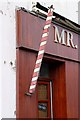 NY1966 : A barber's pole in Annan by Walter Baxter