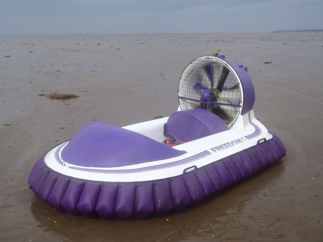 Hovercraft on Ferrier Sand