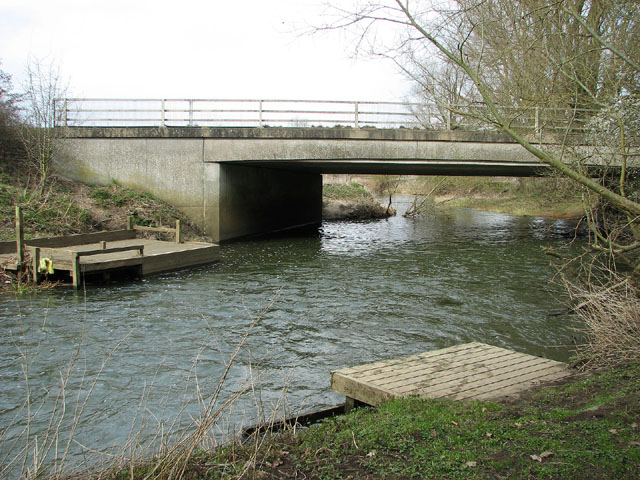 Fishing platforms on the River Waveney