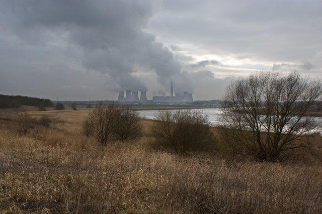 The River Mersey and Fiddlers Ferry Power Station