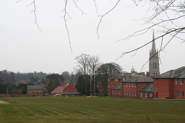 King Edward VI School with St.James' Church behind