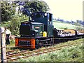 SJ1906 : Diesel hauled works train at Golfa by Richard Green