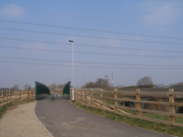 New Trans-Pennine Trail bridge over the River Rother