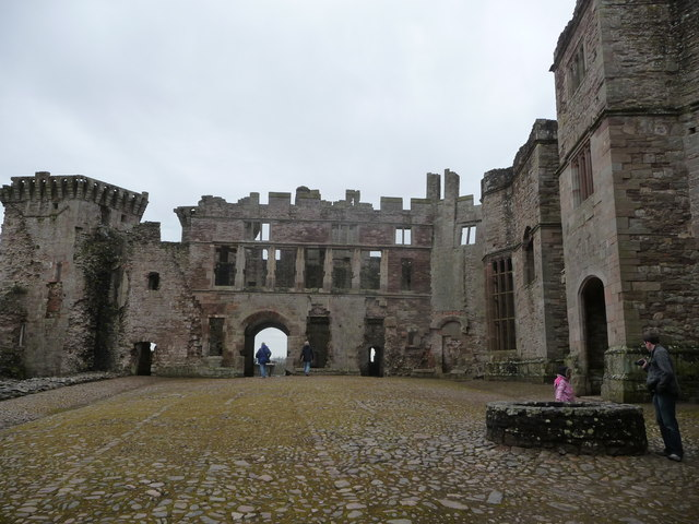Part of the Pitched Stone Courtyard, Raglan Castle