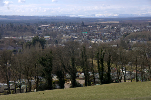 View over Blairgowrie from the Westfields of Rattray