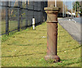 J2464 : Boundary post, Lisburn (3) by Albert Bridge