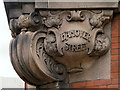 SJ8498 : Ornate Street Sign on the Hanover Building by David Dixon