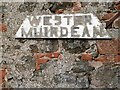 NT6834 : Wester Muirdean sign by Walter Baxter