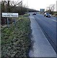 SU1082 : Parish of Lydiard Tregoz boundary sign near Swindon by Jaggery