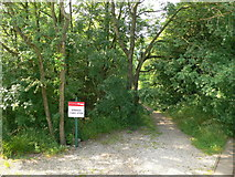 SK3455 : Footpath from the end of the tramway line by Eirian Evans