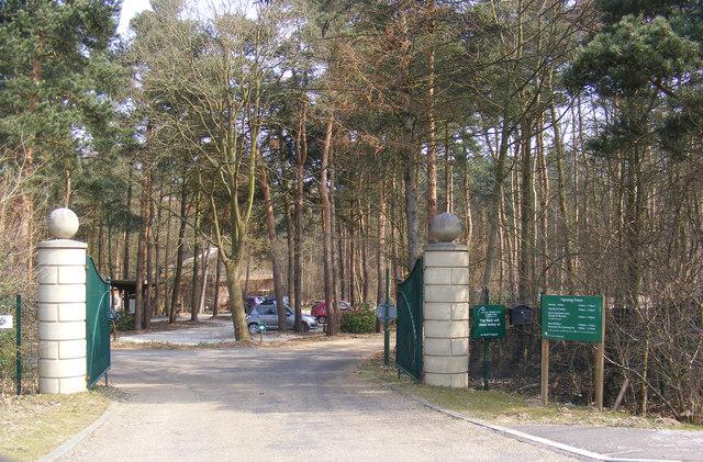 Entrance to Colney Woodland Burial Park