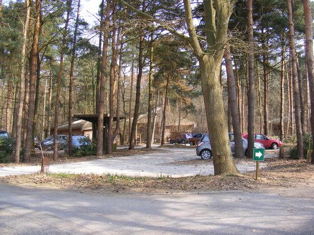 Reception & Car Park at Colney Woodland Burial Park