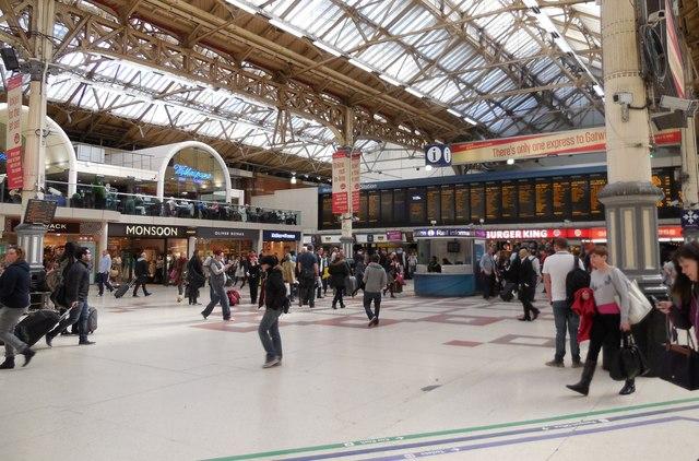 london victoria station concourse  u00a9 paul gillett