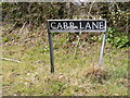 TG2601 : Carr Lane sign by Adrian Cable