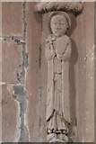 SO4430 : Chancel arch figure (top right), Kilpeck Church by Bob Embleton