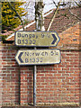 TG2701 : Roadsigns on the B1332 The Street by Adrian Cable