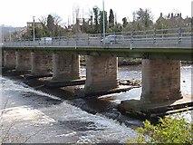 NZ1164 : Downstream side of Wylam Bridge by Oliver Dixon