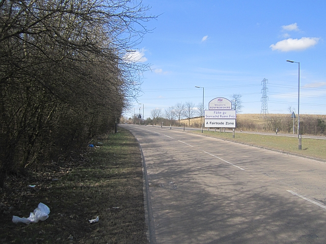 Excessive signage, Hurlet Road