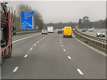 SU2913 : Westbound M27 at Junction 1 by David Dixon