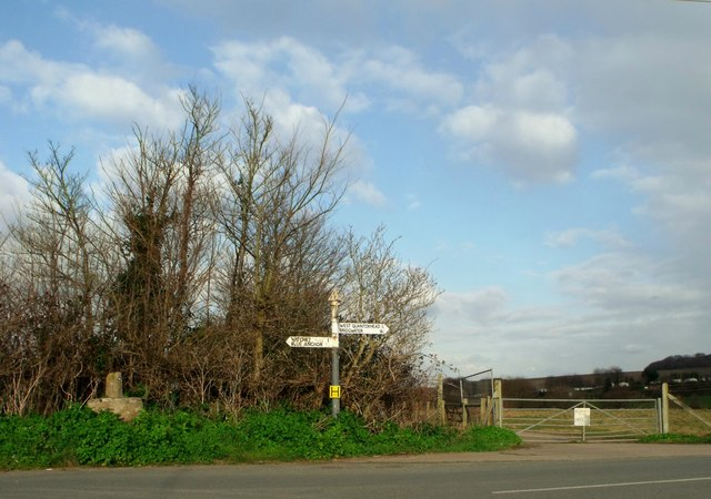 Direction sign, Doniford, Somerset