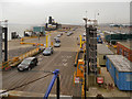SZ0089 : Freight and Ferry Terminal, Poole by David Dixon